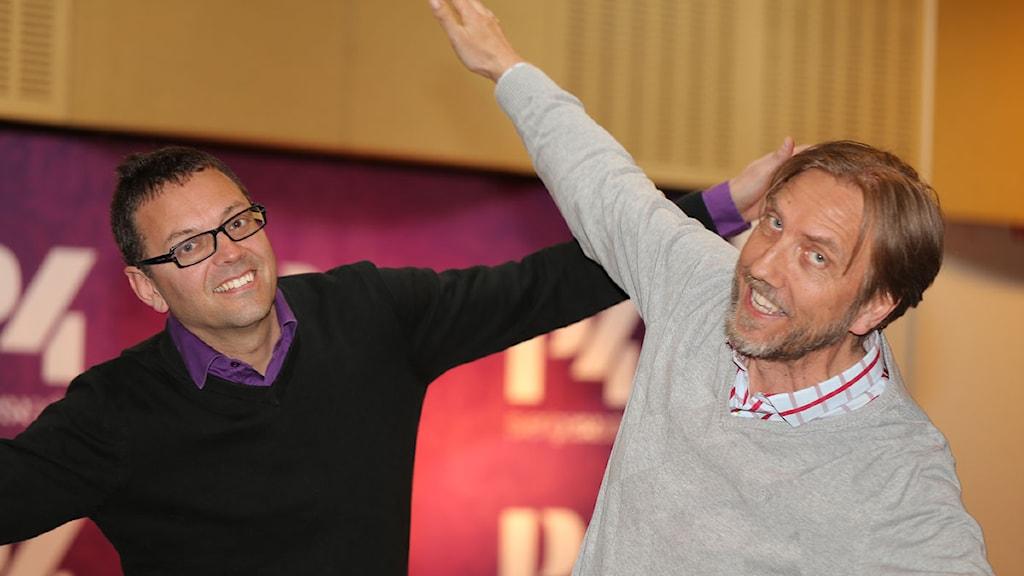 Tom Johansson och Erik Blix. Foto: Åsa Stöckel/Sveriges Radio