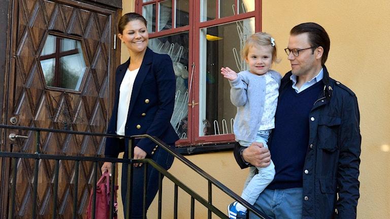 Prinsessan Estelle börjar förskolan. Foto:Anders Wiklund/TT