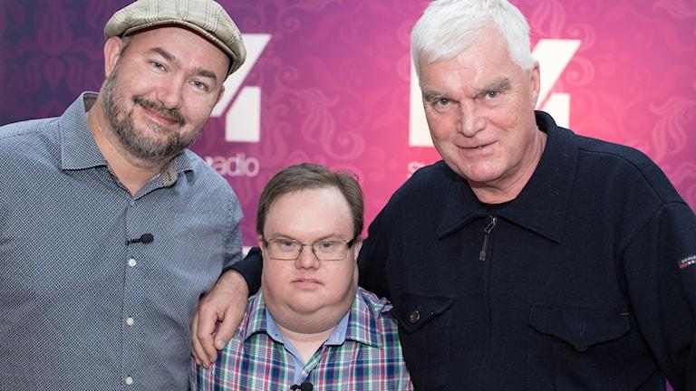 Pär Johansson, Mats Melin och Lasse Bengtsson. Foto: Åsa Stöckel/Sveriges Radio