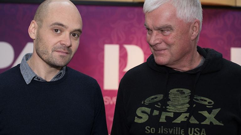 David Dencik och Lasse Bengtsson. Foto: Åsa Stöckel/Sveriges Radio