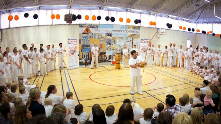 Graderingsevent i Landala med capoeiraklubben Capoeira volta ao mundo.