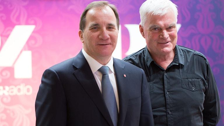 Stefan Löfven och Lasse Bengtsson. Foto: Åsa Stöckel/Sveriges Radio