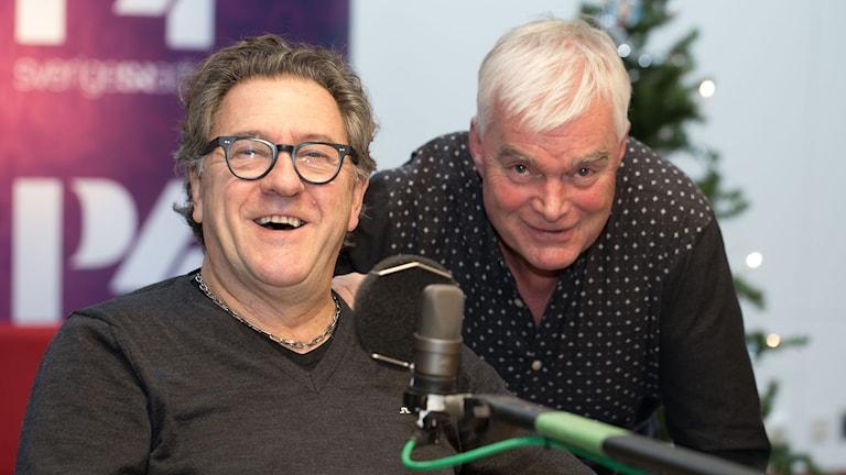Tommy Körberg och Lasse Bengtsson. Foto: Åsa Stöckel/Sveriges Radio