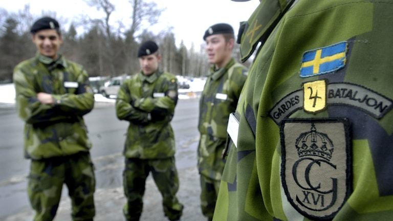 Livgardet i Kungsängen. Foto: Tomas Oneborg/TT