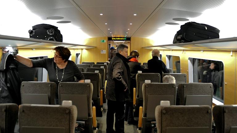 Interiör på ett tåg. Foto: Pontus Lundahl/TT