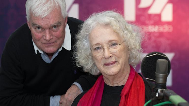 Magdalena Ribbing och Lasse Bengtsson. Foto: Åsa Stöckel/Sveriges Radio