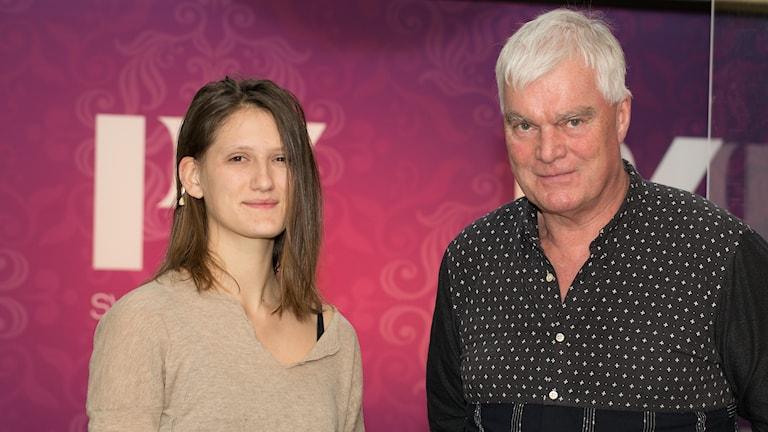 Agnes Bondelid och Lasse Bengtsson. Foto: Åsa Stöckel/Sveriges Radio