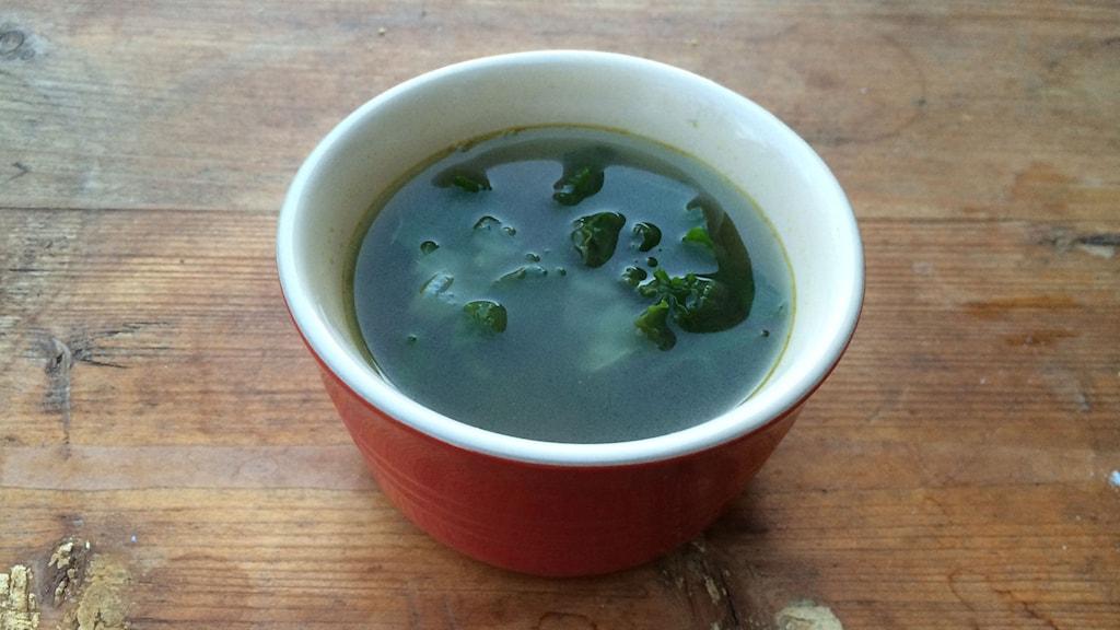 Skål med buljong/soppa