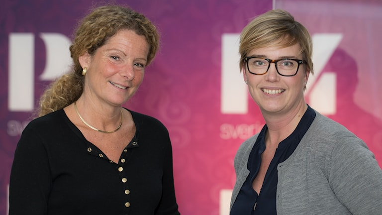 Cilla Benkö och Ylva Lilja. Foto: Åsa Stöckel/Sveriges Radio