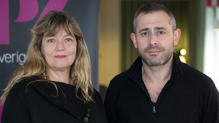 Helena Giertta och Aron Flam. Foto: Åsa Stöckel/Sveriges Radio