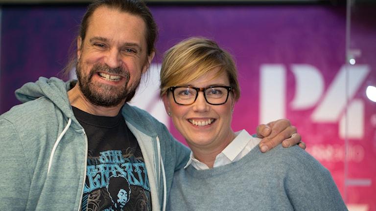 Fredde Granberg och Ylva Lilja. Foto: Åsa Stöckel/Sveriges Radio