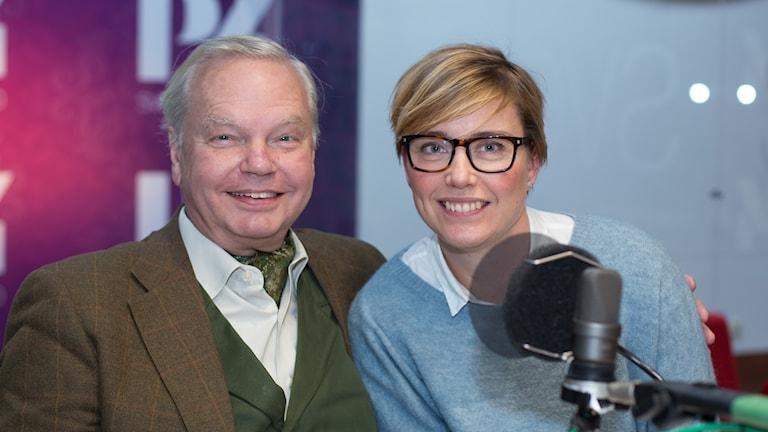 Carl Jan Granqvist och Ylva Lilja. Foto: Åsa Stöckel/Sveriges Radio