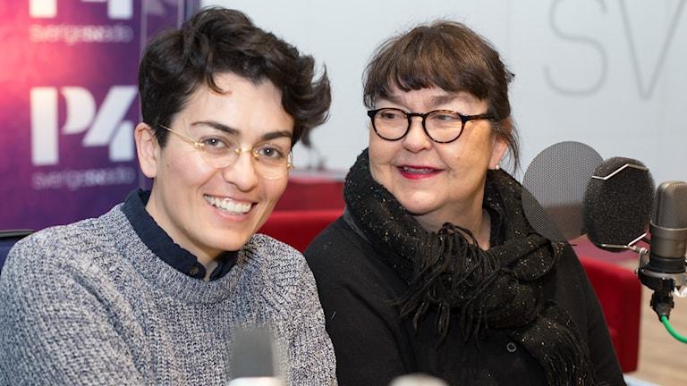 Lawen Mohtadi och Angelica Ström. Foto: Åsa Stöckel/Sveriges Radio