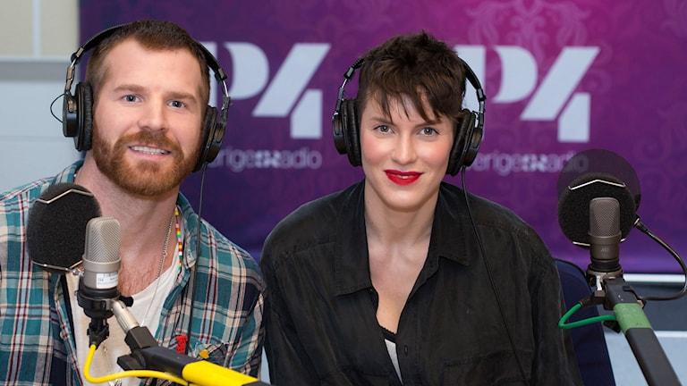 Nina Rung och Peter Svensson. Foto: Åsa Stöckel/Sveriges Radio