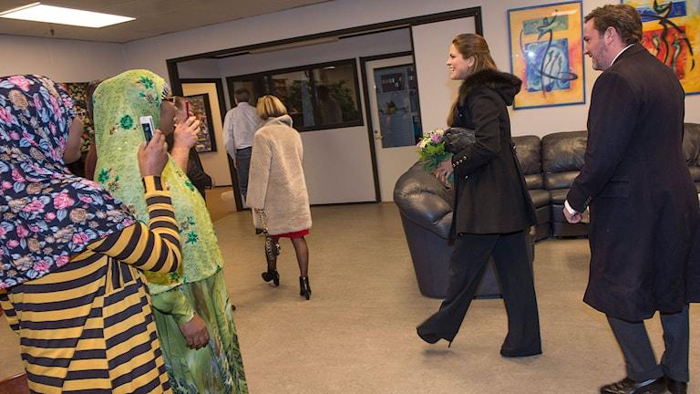 Prinsessan Madeleine och maken Christoper O'Neill i Gävle. Foto:Jonas Ekströmer/TT