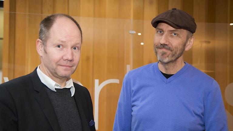 Peter Englund och Erik Blix. Foto: Åsa Stöckel/Sveriges Radio