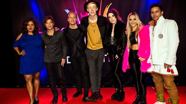 Startfält 3 i Melodifestivalen. Foto: Janne Danielsson/SVT