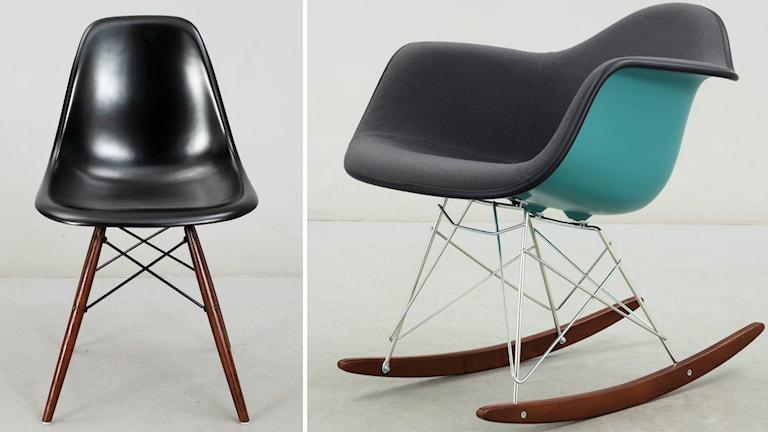 """Stolarna """"DSW"""" och """"RAR"""" av Charles och Ray Eames. Foto: Bukowskis"""