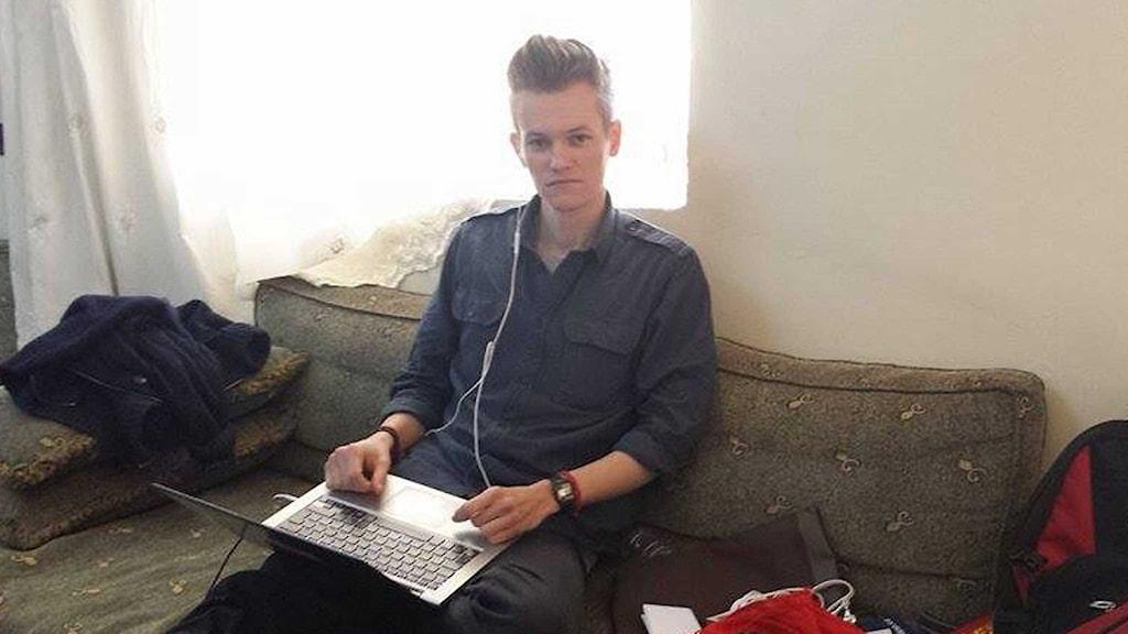 Joakim Medin, den svenske frilansjournalist som hållits fången i Syrien. Foto: Privat.