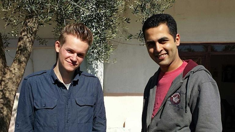 Joakim Medin, den svenske frilansjournalist, som släppts fri efter en veckas fångenskap i Syrien. Foto: Privat.