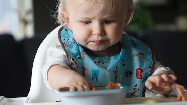 Baby äter. Foto: Fredrik Sandberg/TT
