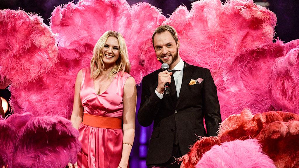 Sanna Nielsen och Robin Paulsson Foto: Janerik Henriksson/TT