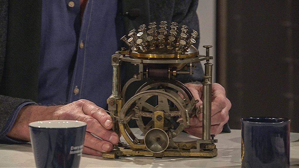 Den dyra skrivmaskinen. Foto: SVT