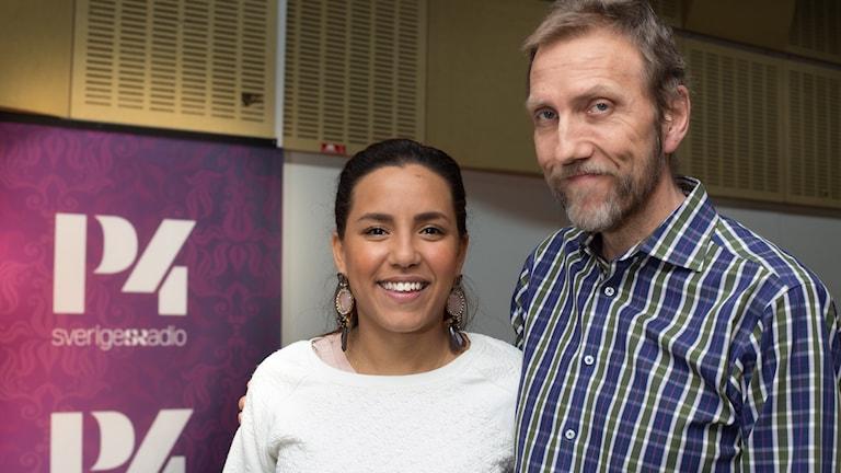 Markiz Talhaoui och Erik Blix. Foto: Åsa Stöckel/Sveriges Radio