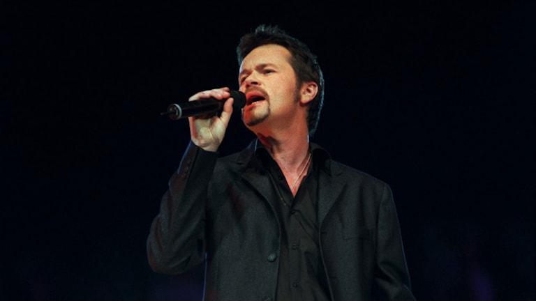 Anders Glenmark sjunger. Foto: Krister Larsson/TT