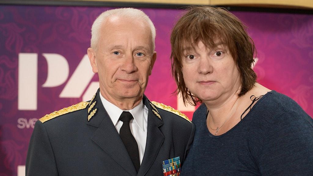 Sverker Göranson och Lotta Bromé. Foto: Åsa Stöckel/Sveriges Radio