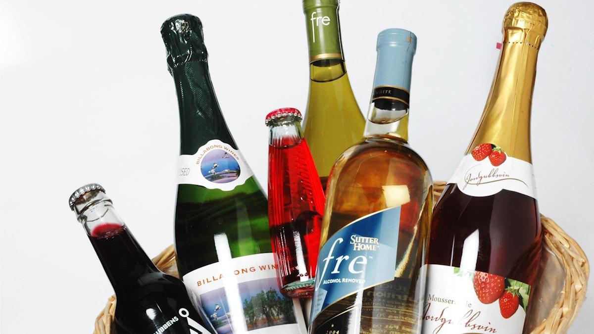 Alkoholfria viner och drycker. Foto Nina Varumo/TT