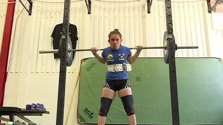 Mia Engrenius satte tre världsrekord i VM i Finland. Foto: SVT