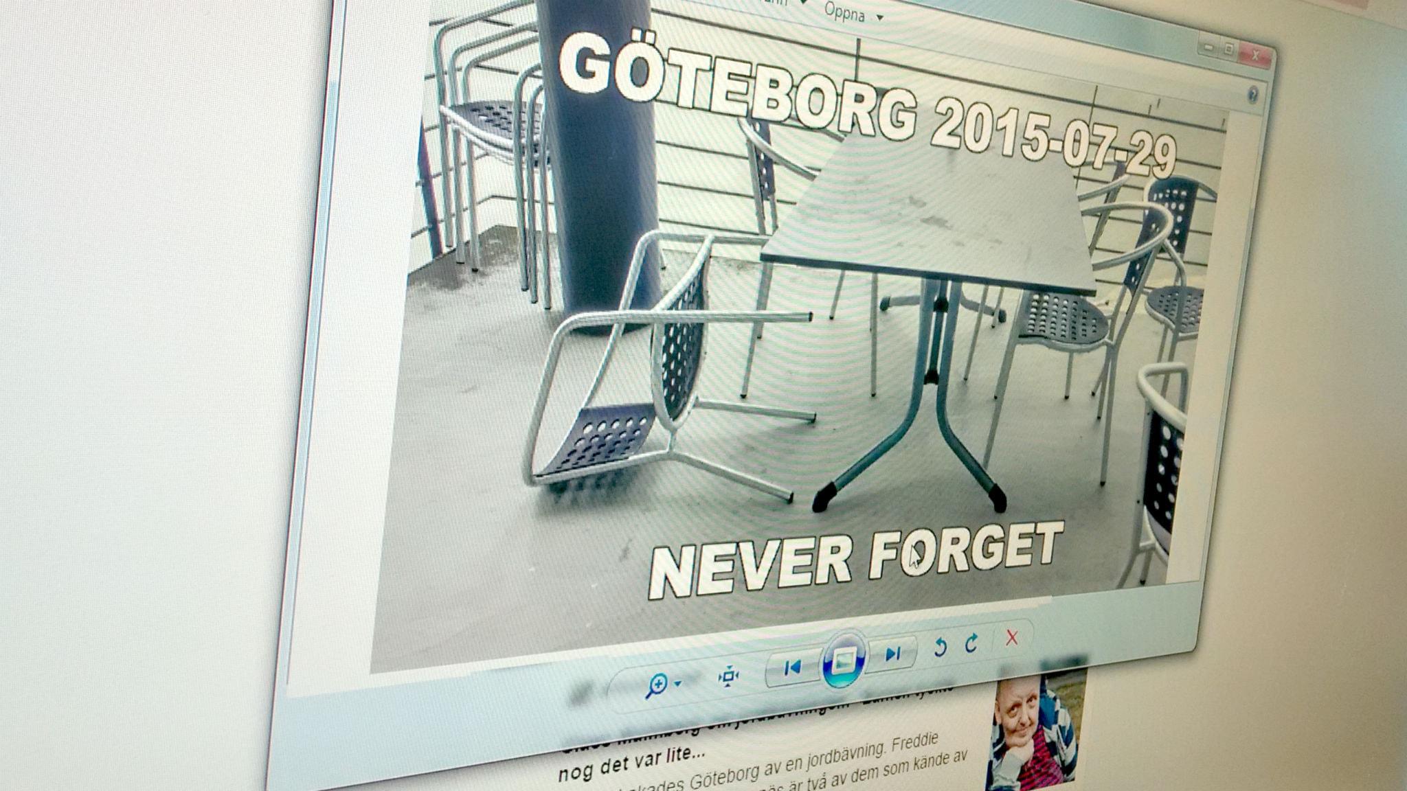 Internet fylldes av skämt om jordbävningen i Göteborg.