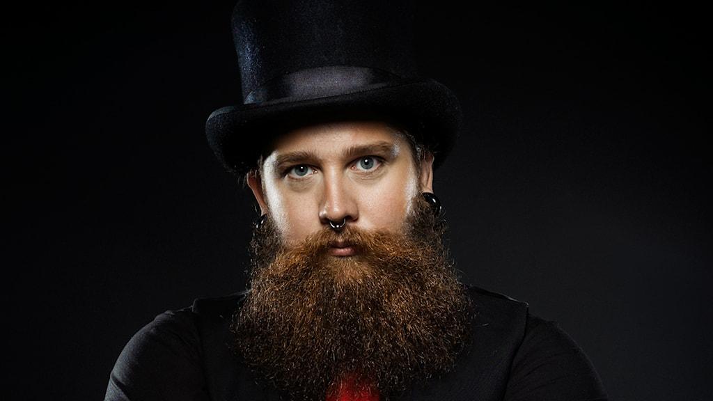 Andreas Fransson - skäggfantast. Foto: Privat
