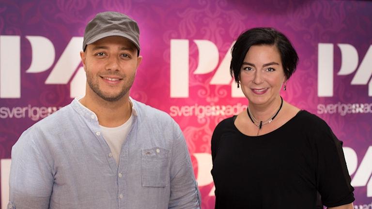 Maher Zain och Nina Allergren. Foto: Åsa Stöckel/Sveriges Radio