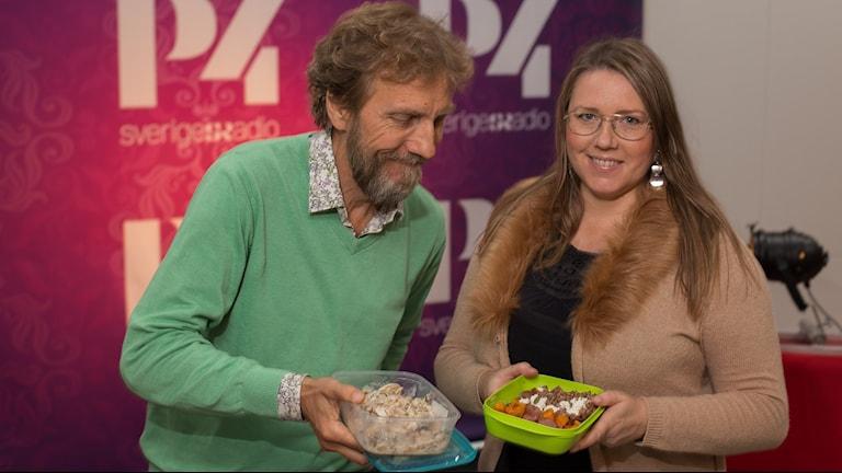 Erik Blix och Mia Troberg. Foto: Åsa Stöckel/Sveriges Radio