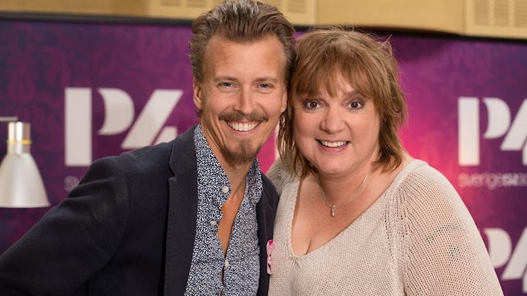 Paul Svensson och Lotta Bromé. Foto: Åsa Stöckel/ Sveriges Radio