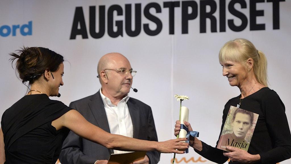 Carola Hansson nominerades till Augustpriset. Foto: Vilhelm Stokstad/TT