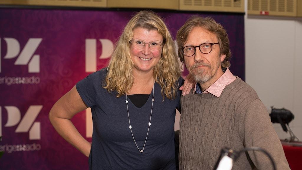 Monica Pettersson och Erik Blix. Foto: Åsa Stöckel/ Sveriges Radio