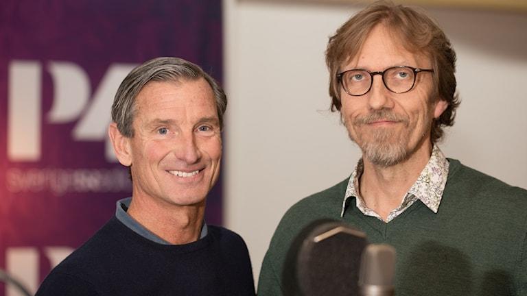 Kjell Enhager och Erik Blix. Foto: Åsa Stöckel/Sveriges Radio
