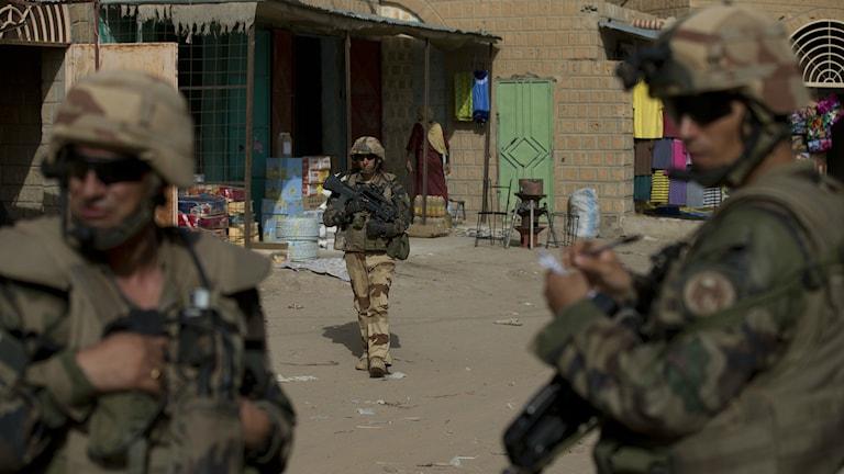 Frankrike bekämpar al-Qaida i Mali. Foto: Rebecca Blackwell/AP/TT