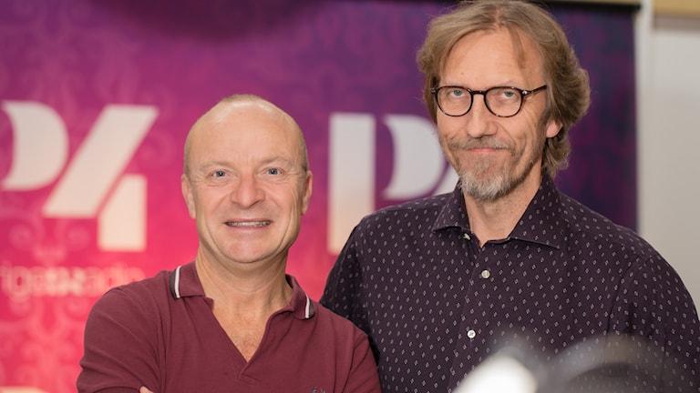 Jonas Gardell och Erik Blix. Foto: Åsa Stöckel/Sveriges Radio