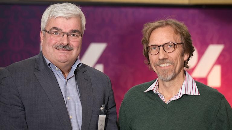 Håkan Juholt och Erik Blix. Foto: Åsa Stöckel/Sveriges Radio