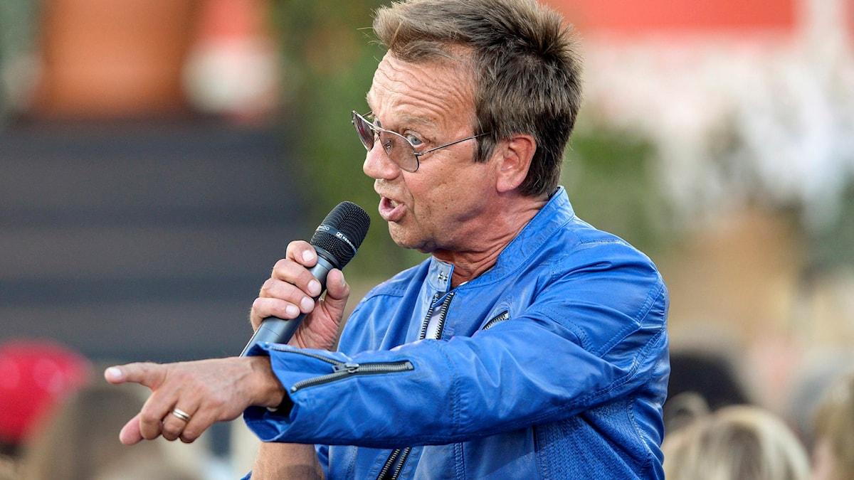 Björn Skifs, sjunger på Allsången. Foto: Maja Suslin/TT