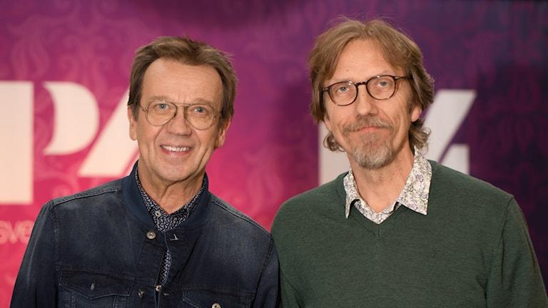 Björn Skifs och Erik Blix. Foto: Åsa Stöckel/Sveriges Radio