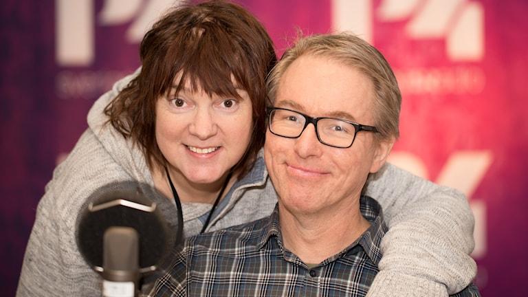 Lotta Bromé och Bengt Skött. Foto: Åsa Stöckel/Sveriges Radio