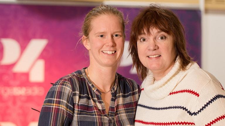 Maja Reichard och Lotta Bromé. Foto: Åsa Stöckel/Sveriges Radio