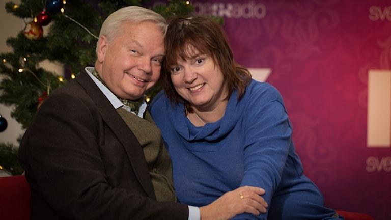 Carl Jan Granqvist och Lotta Bromé. Foto: Åsa Stöckel/Sveriges Radio
