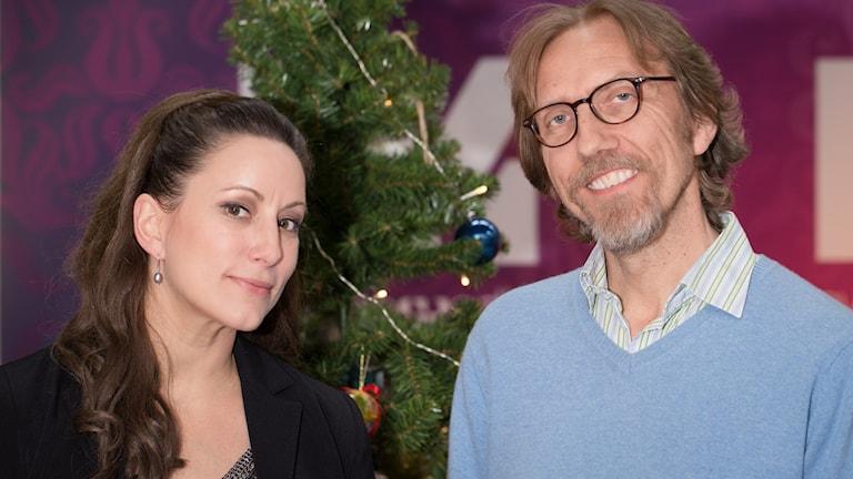 Lisa Nilsson och Erik Blix. Foto: Åsa Stöckel/Sveriges Radio