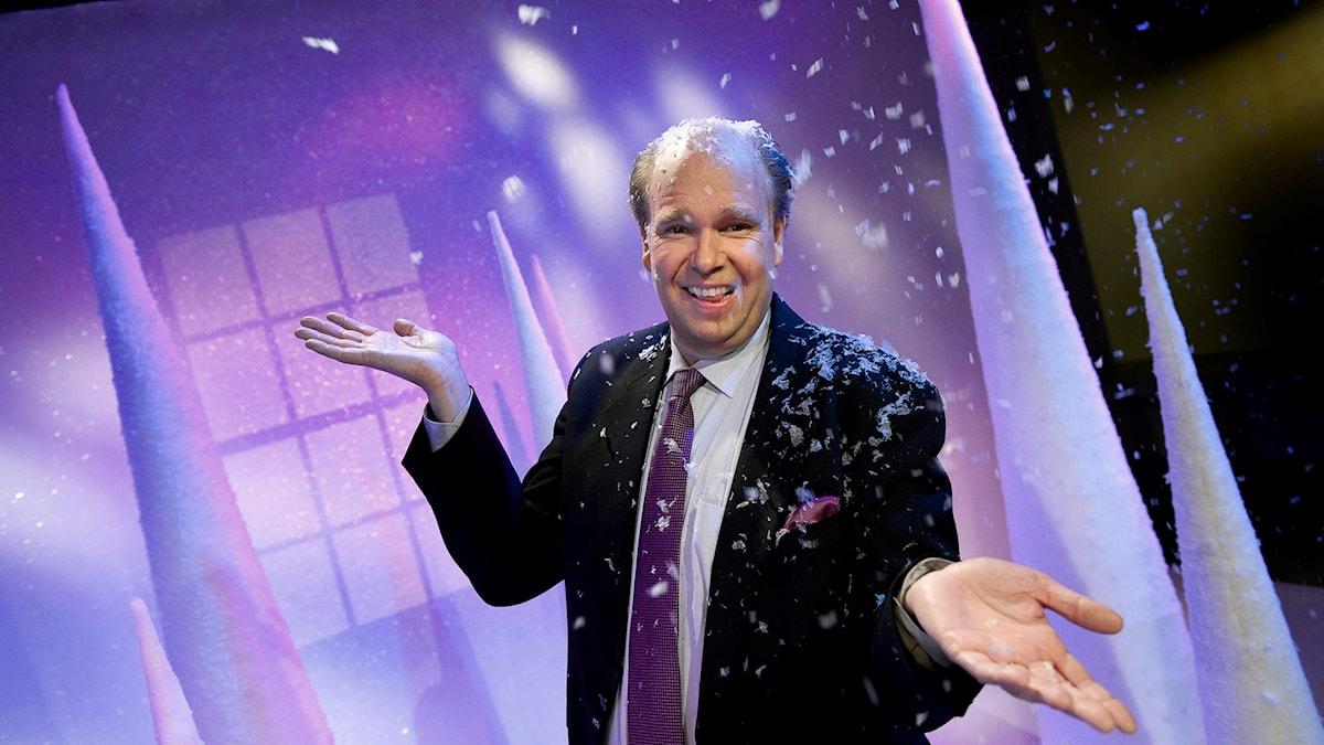 Lasse Kronér - här som julvärd 2008 i SVT. Foto: Anders Wiklund/TT